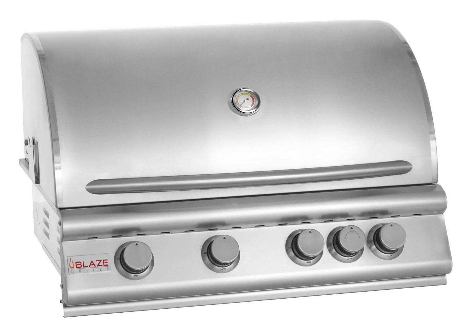 Blaze 4 Burner Built in Grill with Rotisserie