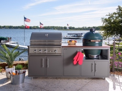 Challanger Designs Coastal Cart Package with Grill and Egg