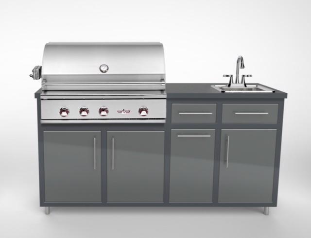 """Challenger Design Delta Heat 32"""" Outdoor Kitchen Package"""