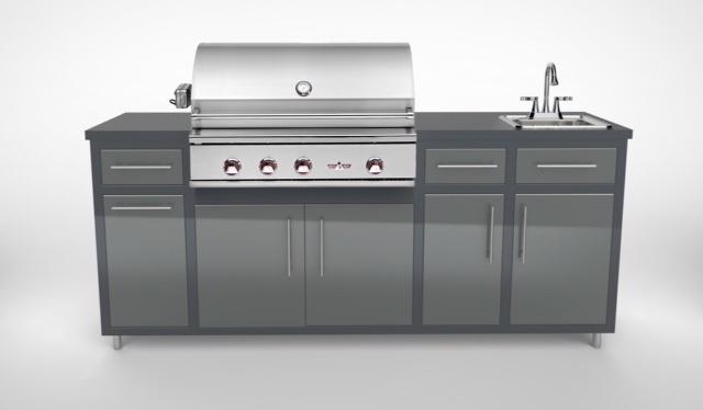 """Delta Heat 32"""" Challenger Design Deluxe Outdoor Kitchen Package"""