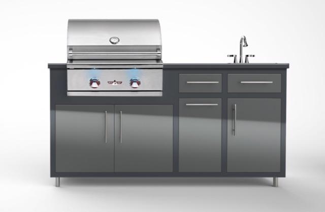 """Delta Heat 26"""" Challenger Designs Outdoor Kitchen Package"""