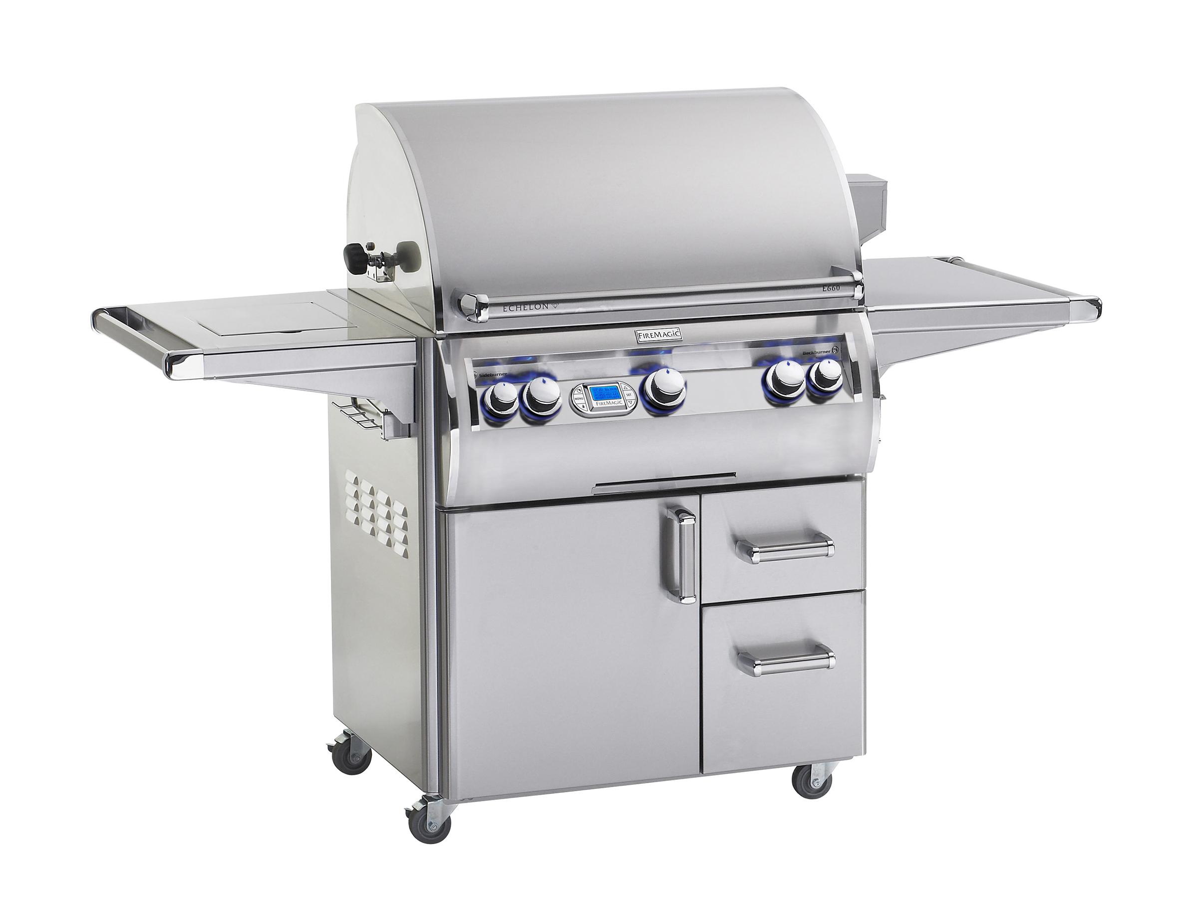 FireMagic Echelon E660 Grill on Cart