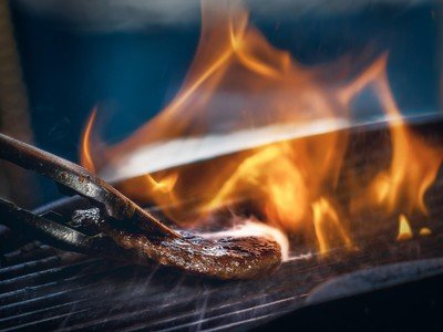 Grilling on an open flame