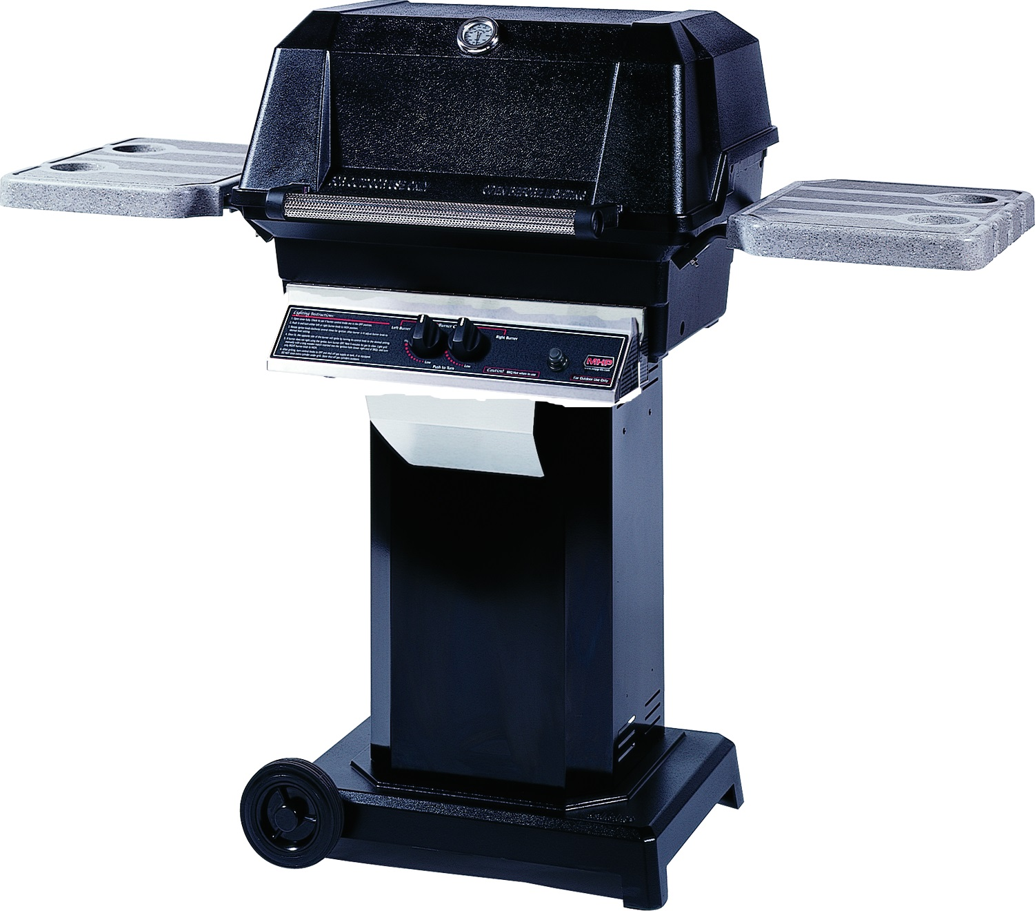 MHP WNK Grill on Black Aluminum Column