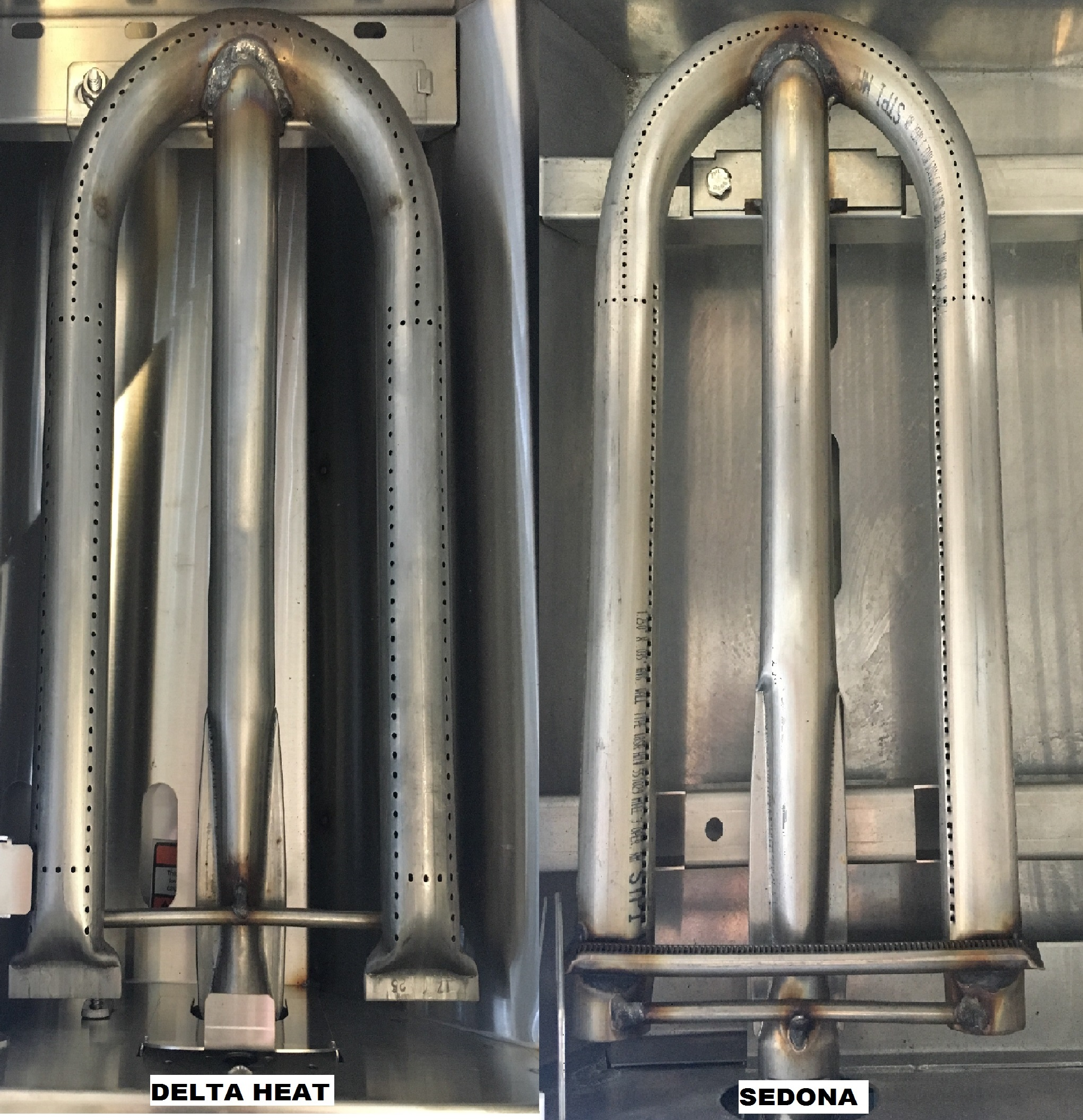 Delta Heat Burner vs Sedona Burner