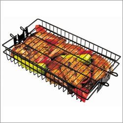 grill pro non stick rotisserie spit basket