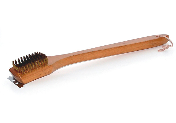 Deluxe 18-in Grill Brush w Hardwood Handle