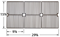 Cast iron grates with dimensions