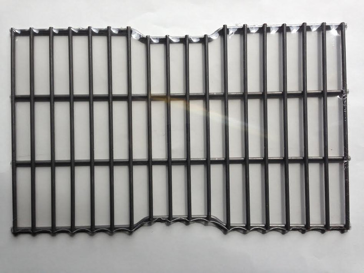 Steel wire rock grate