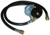 Hose and regulator kit for side burners