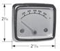 Heat indicator dimensions