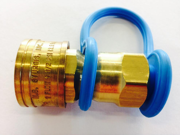 Natural Gas Brass Quick Connect Coupling 3/8