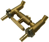 Twin valve assembly for Charmglow Grills