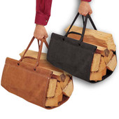 Top Grain Suede Wood Carrier - Black