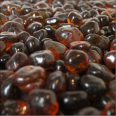 American Fireglass Amber Eco Fire Glass-10 lbs