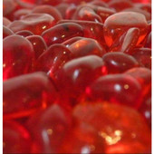 American Fireglass Crystal Red Eco Fire Glass 10 lbs