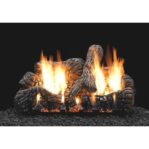 Charred Oak log and burner set
