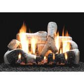 Birch log and burner set