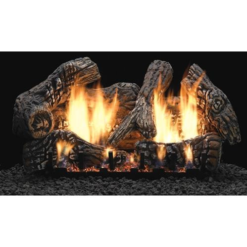 Super Charred Oak log and burner set