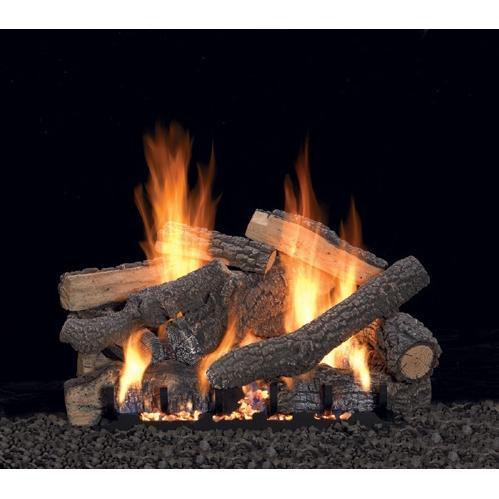 Ponderosa log set with manual burner