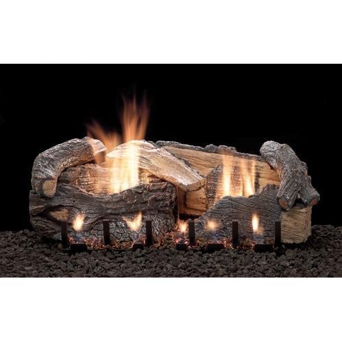 Stacked Aged Oak log and burner set