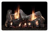 """Empire 24"""" Sassafras Gas Logs and Burner Slope Glaze Burner Variable Remote Control"""