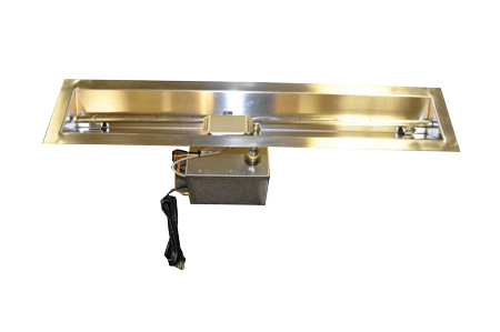 "24"" Electronic Ignition Linear/Trough Fire Pit,120VAC"