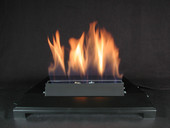 "American Fireglass 20"" Single Black Vent Free Burner, On/Off Control"
