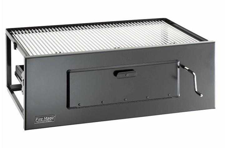 """Fire Magic Lift-A-Fire 30"""" Charcoal Built-in Grill w SS Cooking Grates"""