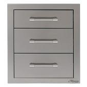 Alfresco triple storage drawers