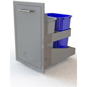 Alfresco Dual Stainless Steel Trash Receptacle Center