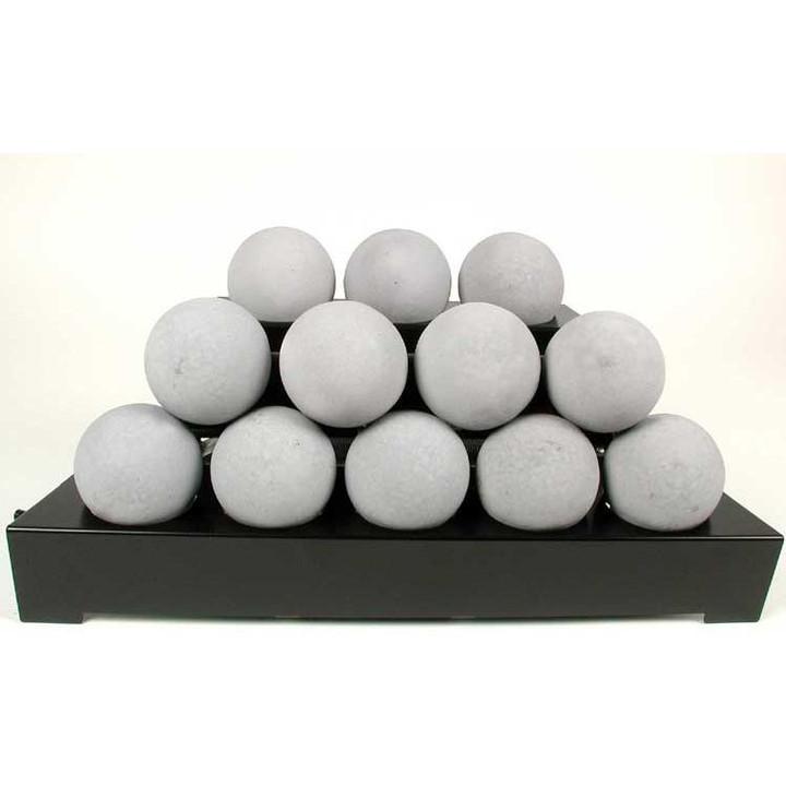 "30"" Alterna Light Grey Vent Free FireBalls Manual Black Chassis"