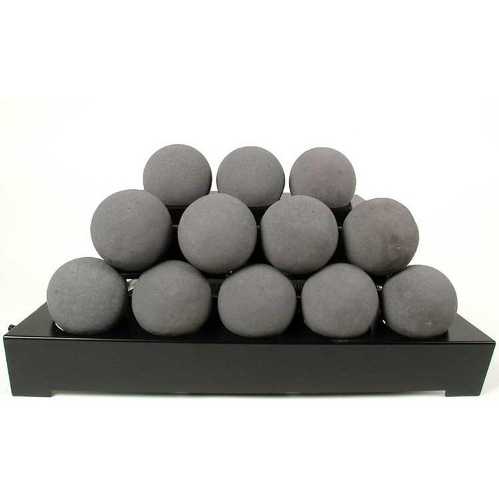 "30"" Black Alterna Vent Free FireBalls Variable Black Chassis"