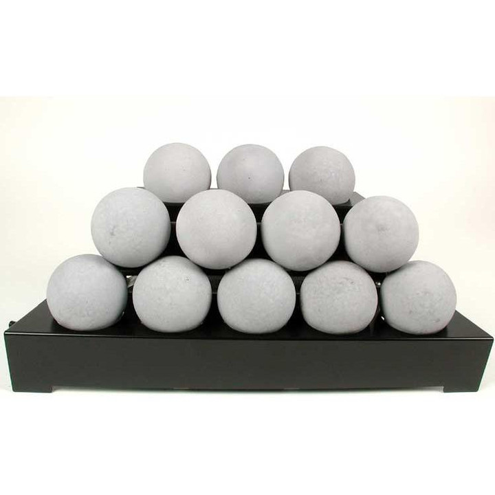 "30"" Light Grey Alterna Vent Free FireBalls Variable Black Chassis"