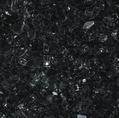 "American Fireglass Black | 1/4"" Fire Glass"