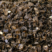 American Fireglass Bronze Reflective | 1/2-in Fire Glass | 1 lb