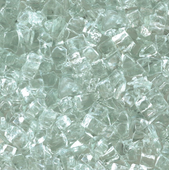 "American Fireglass Clear 1/4"" Fire Glass"
