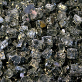 American Fireglass Gray Reflective 1/2-in Fireplace Gems 1 lb