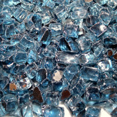 American Fireglass Pacific Blue Reflective | 1/2-in Fire Glass | 1 lb