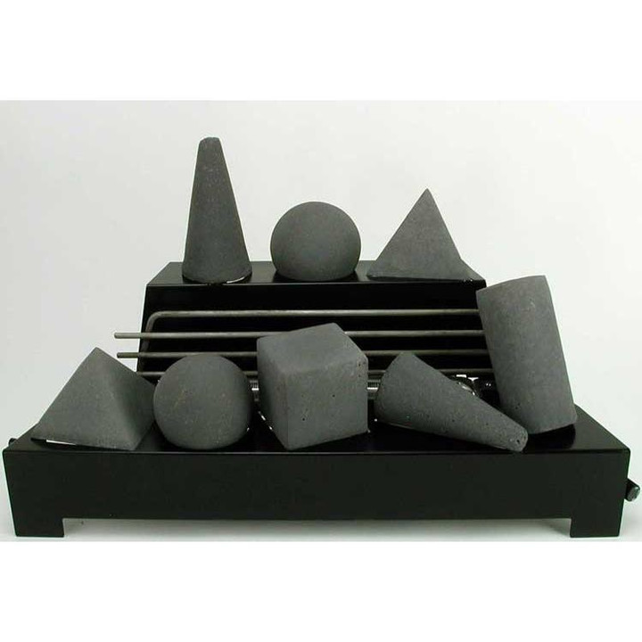 "24"" Alterna FireShape Dark Grey Vent Free w Black Chasis 
