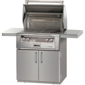 "Alfresco 30"" Grill on Cart, One Sear Zone"