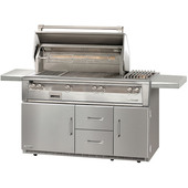 Alfresco 56-in Deluxe Grill Refrigerated Cart w Side Burner
