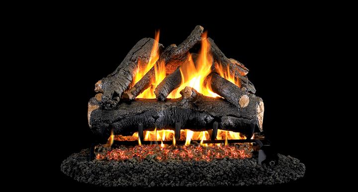American Oak Vented G4 Gas Log Set