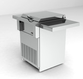 Alfresco Counter top Refrigerator on Cart