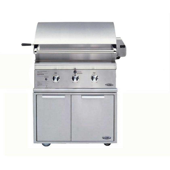 30 inch DCS gas grill on cart