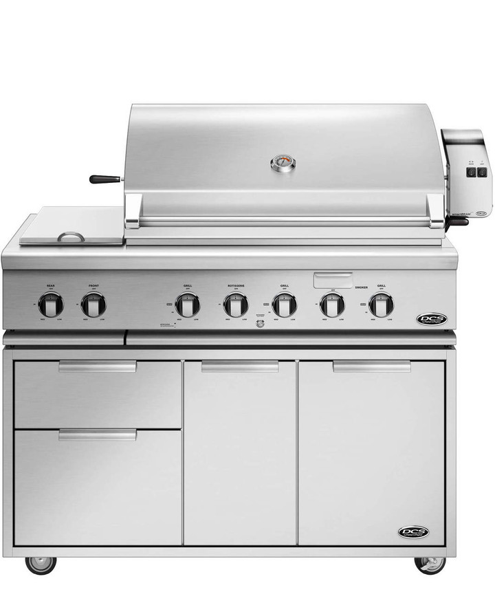 48 inch DCS grill on cart