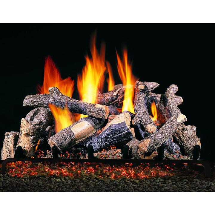 Charred Oak Stack Vented Gas Log Set