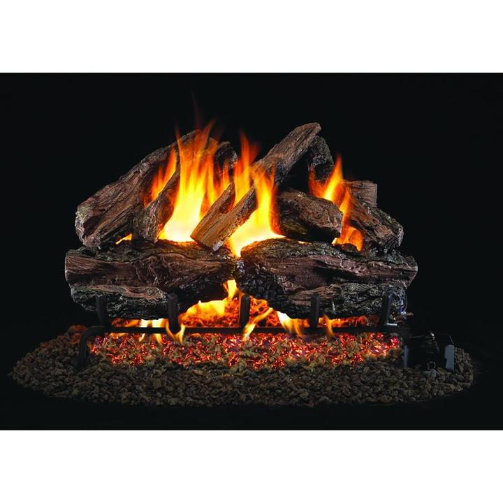 Charred Red Oak Gas Log Set