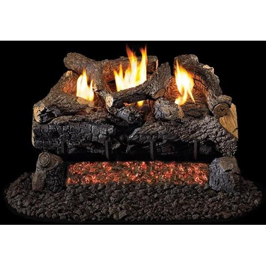 Evening Fire Charred See-thru Log Set