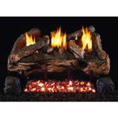 Real Fyre 16/18 Evening Fyre Log Set | G18 Burner | On-Off Remote | LP